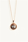 "rose gold one snap necklace 28""chain"