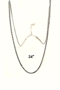 rhodium  plated chain 24""