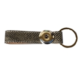 one snap keychain  gray