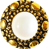 snap gold with white pearl