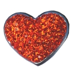 snap orange stone heart