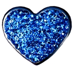 snap blue heart 7225