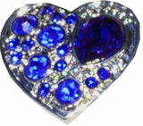 snap heart r-blue color