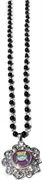 snap necklace black pearl 6mm