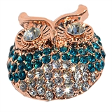 snap rose gold owl