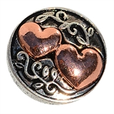 snap copper double heart design